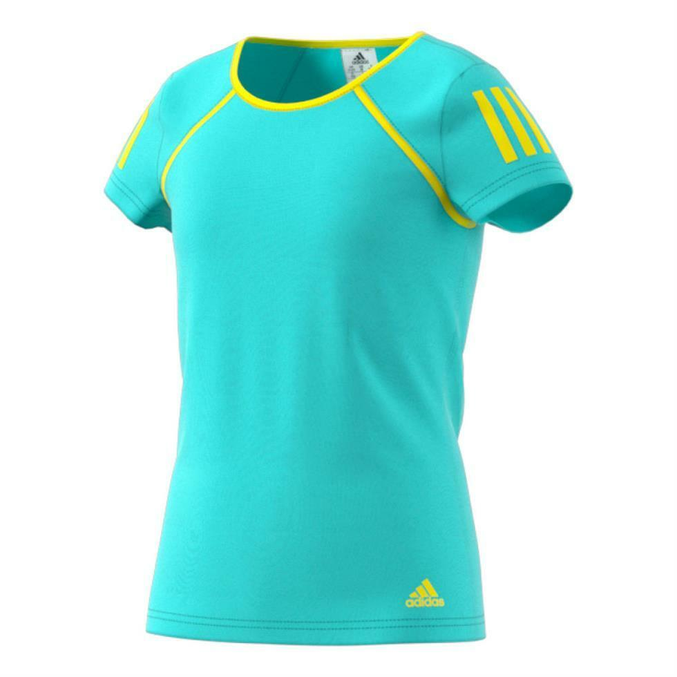 Adidas Girls Club Tennis Climalite Tennis Club T SHIRT-Aqua 435b95