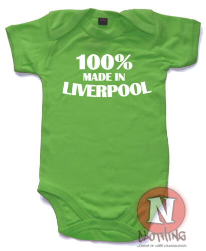 100/% made in Liverpool drôle bébé grandir gilet costume foie liverpudlian Mersey