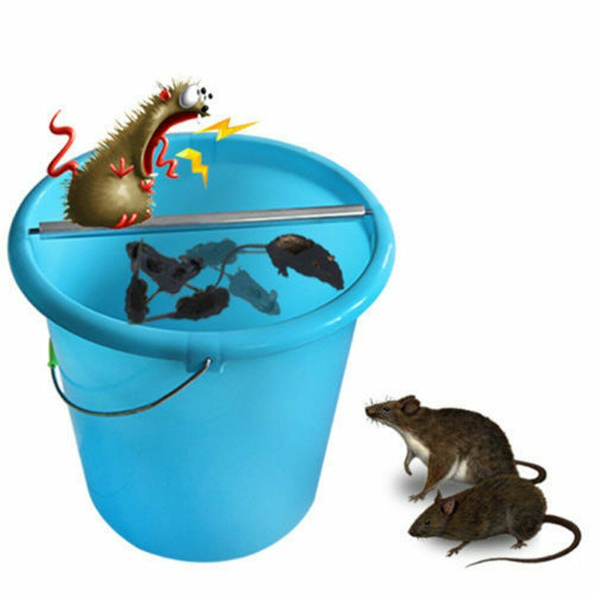 Log Roll Bucket Mouse Trap Rodent Stainless Steel Carbon