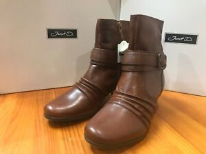 Ladies Brown Real Leather ankle boots