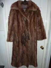 "Gorgeous Ladies real honey mink fur coat & scarf 42"" bust size 14 length 46"""