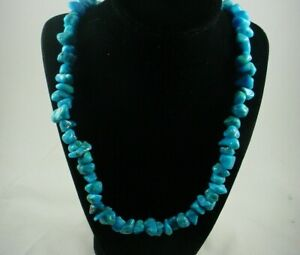 Authentic-TURQUOISE-Native-American-Southwestern-22-034-Nugget-Beaded-Necklace