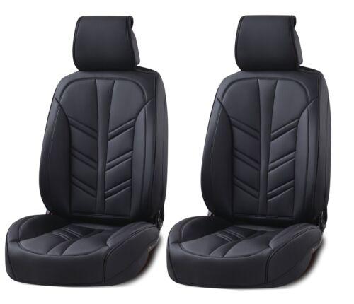 Vordere eleganter Autositzbezug Sitzbezüge Schonbezüge aus Kunstleder Schwarz