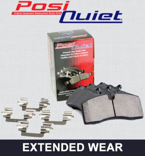 FRONT SET Posi Quiet Extended Wear Brake Disc Pads + Hardware Kit 106.09140