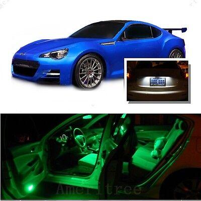 For Subaru Impreza WRX 2004-2018 Green LED Interior Kit Green License Light LED