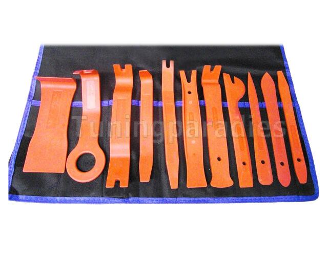 11 Cliplöser Demontage Set PKW Innenraum Verkleidung KFZ Reparatur Montage-Hebel
