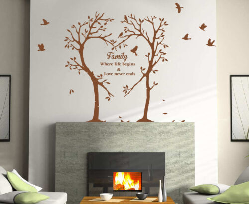 Family Inspirational Love Quote TREE Art Wall Sticker Wall Decal HIGH QUALITY