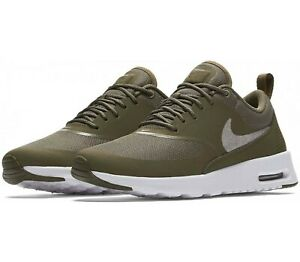 Details zu WOMENS NIKE AIR MAX THEA SIZE 3 EUR 36 (AT0067 200) MEDIUM OLIVE SILVER