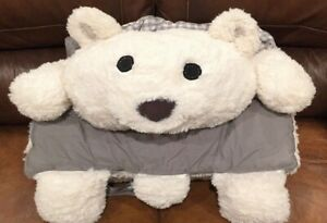 New Pottery Barn Girls Luxury Sherpa White Pink Polar Bear