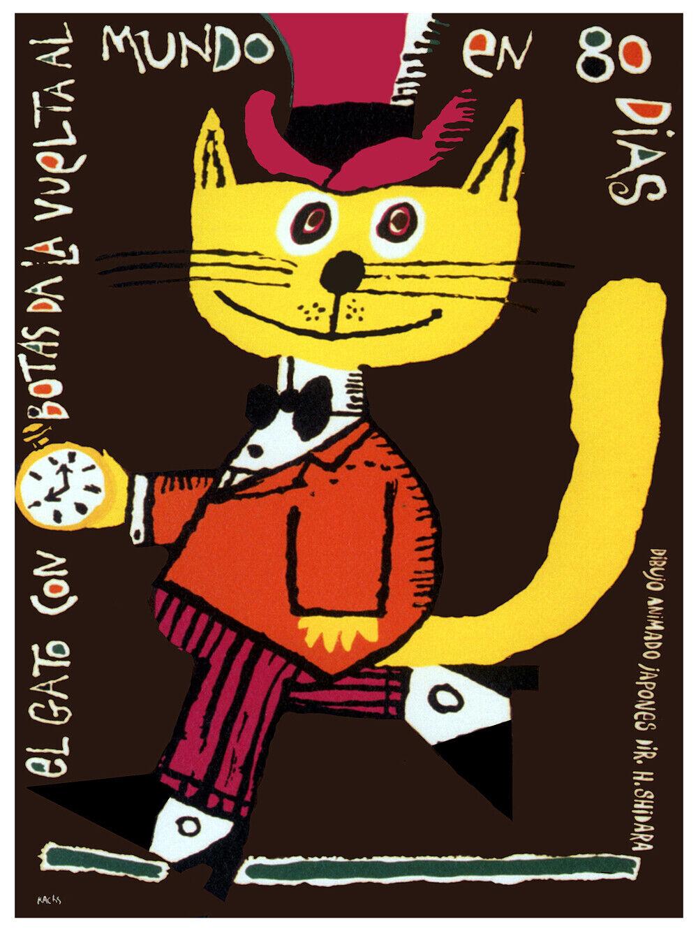 8258.Decoration Poster.Home Room wall art design print.giallo elegant Cat movie