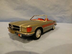 Vintage-1970-Mercedes-Benz-R107-450SL-Convertible-Cabrio-Plata-Juguete-Diecast-Car