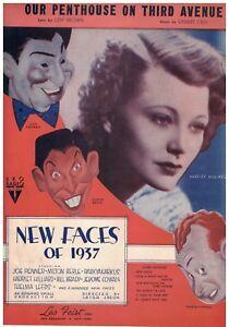 100% Vrai Vintage Milton Berle Feuille De Musique De Nouveaux Visages De 1937-afficher Le Titre D'origine Utilisation Durable