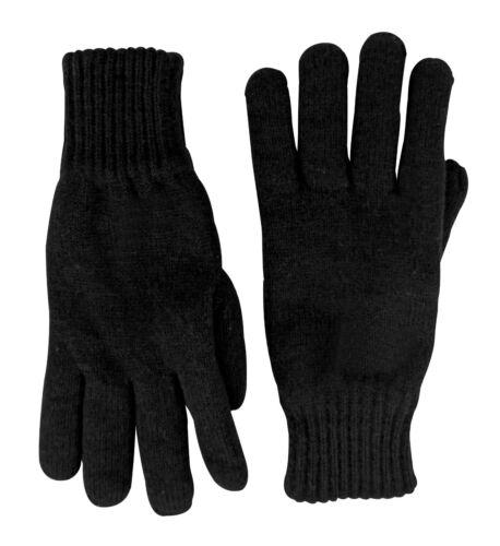 Herren winter warm gestrickt schwarz thermo handschuhe 3 größen Thinsulate
