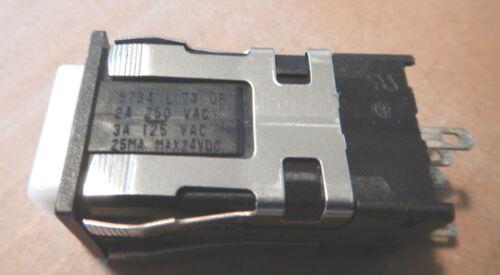HONEYWELL MICRO SWITCH MOMENTARY SPDT PUSH BUTTON AML22CBM2AA 24VDC YELLOW LED