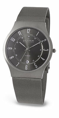 SKAGEN Mens/Gents ULTRA SLIM TITANIUM WATCH 233XLTTM Grey Dial £130 Retail NEW