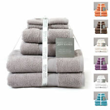 Jeff Banks Set of 6 Luxury 100% Pure Cotton 550GSM Towel Bale - Hand Bath & Face