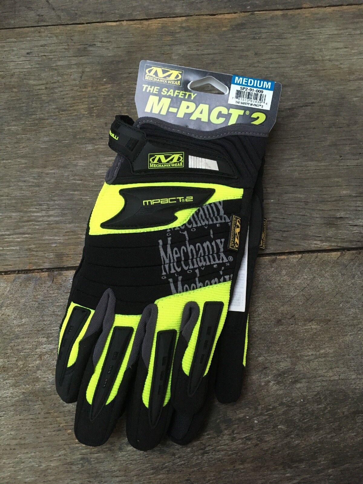 Mechanix Wear  The Safety M-Pact 2 Hi-Viz Day Glow Green SP2-91-009 M Medium BNWT  fashion