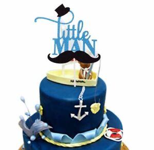 Magnificent Little Man Mustache Cake Cupcake Topper Baby Shower Bow Tie First Funny Birthday Cards Online Necthendildamsfinfo