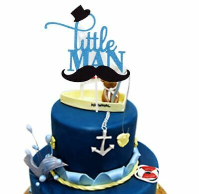 Enjoyable Little Man Mustache Cake Cupcake Topper Baby Shower Bow Tie First Personalised Birthday Cards Veneteletsinfo