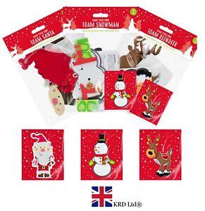 3x Faites Votre Propre Noël Mousse Personnages Enfants Craft Kit Santa Renne Pack Uk-afficher Le Titre D'origine Akgtf2ab-10035628-930814979