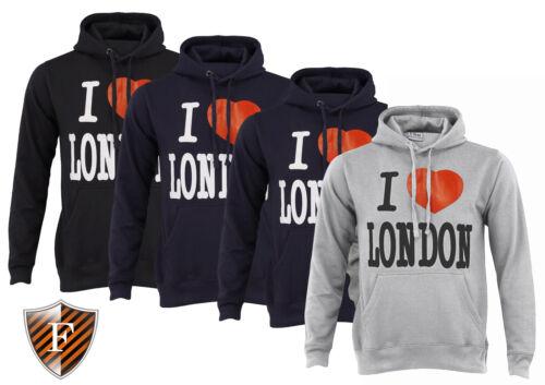 New Hommes Femmes Pull-over I Love London Sweat à capuche sweat à capuche sweat à capuche souvenir