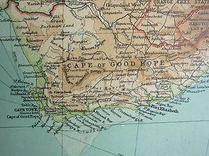 1921 LARGE MAP CENTRAL SOUTHERN AFRICA CAPE OG GOOD HOPE