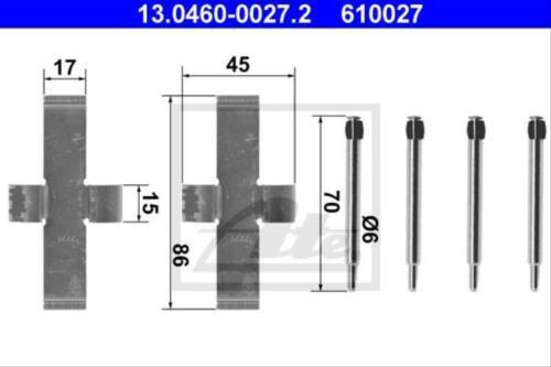 Scheibenbremsbelag Original ATE 13.0460-0027.2 Zubehörsatz