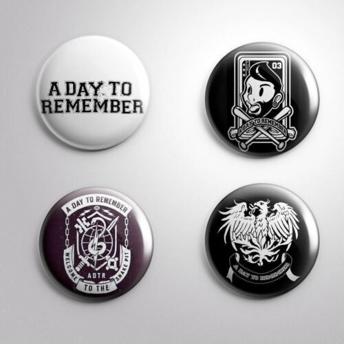 Pinbacks Badge Button Pin 25mm 1/'/' 4 A DAY TO REMEMBER