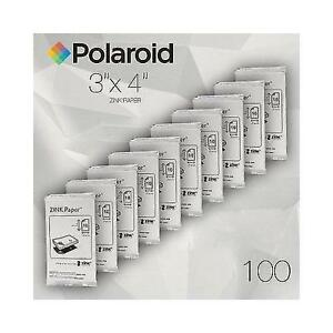 Polaroid ZINK Media 3x4 inch Photo Paper for Z340 Camera & GL10 Printer-Pack 100