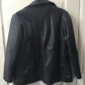 In stock immediate delivery OK Leather Gallery Front Zipper Jacket ...