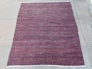 Old-Traditional-Hand-Made-Persian-Oriental-Wool-Red-Brown-Kilim-143x120m
