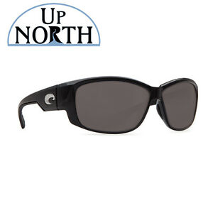 8b615dbfd0 Costa Del Mar Luke Sunglasses Shiny Black Frame Gray Lens 580P ...
