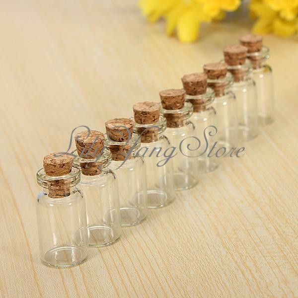 5/10/20/30 Cute Mini Glass Small Bottle Cork Stopper Vials Jars Containers 23x13