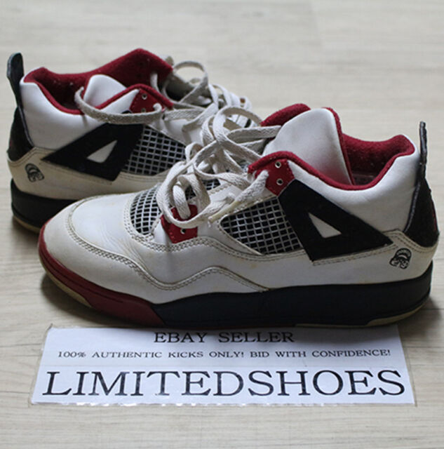 cheap for discount 85ad3 4b59f 2006 Air Jordan 4 Retro PS White Fire Red Black Mars IV Size 3y 3 Y 308499  162