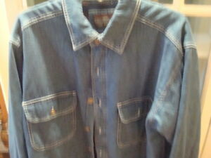d9aa9c97f00 Men s Levi Strauss Denim Fleece Lined Jacket Shirt Style Size M EUC ...