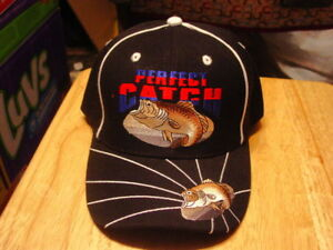 BASS-FISH-PERFECT-CATCH-BASEBALL-CAP-BLACK