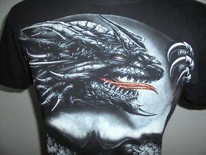 vintage WILD Totenkopf shirt alien Rocker Biker heavy metal punk oldschool M