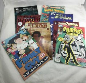 Comics-Lot-8-Marvel-Zero-Heroes-Image-Finder-Family-Guy-SLG-Dark-Horse