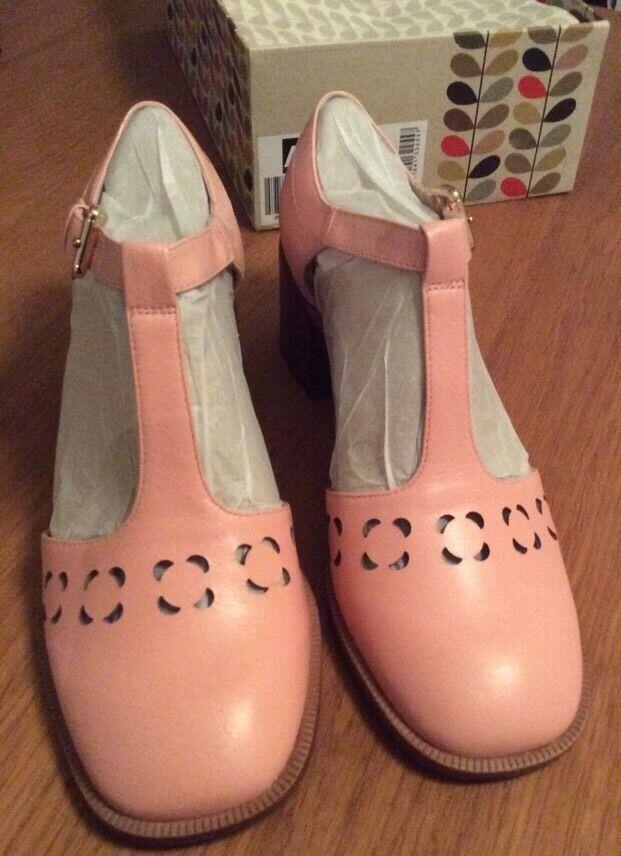 Orla Kiely Clarks Zapatos Zapatos Zapatos rosado, Bibi en tamaño 6, 39.5 euros, Estilo Vintage  tomamos a los clientes como nuestro dios