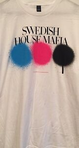 SWEDISH-HOUSE-MAFIA-T-SHIRT-Electronic-dance-music-trio-Size-Extra-Large