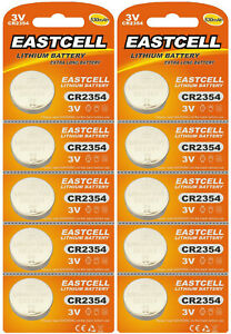 10-x-CR2354-3V-Lithium-Batterie-ohne-Vertiefungsrille-EASTCELL