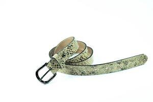 Cinturon de piel para mujer estampado de piel de serpiente Talla 85