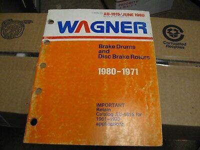 VINTAGE WAGNER LOCKHEED PARTS CATALOG SUPPLEMENT DISC BRAKES