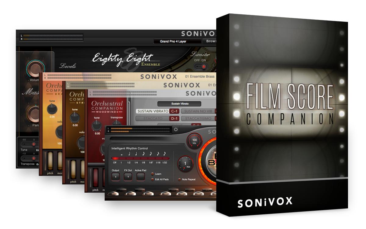 SALE Sonivox Film Score Companion Plugin Bundle Mac PC 5 software titles ( 2)