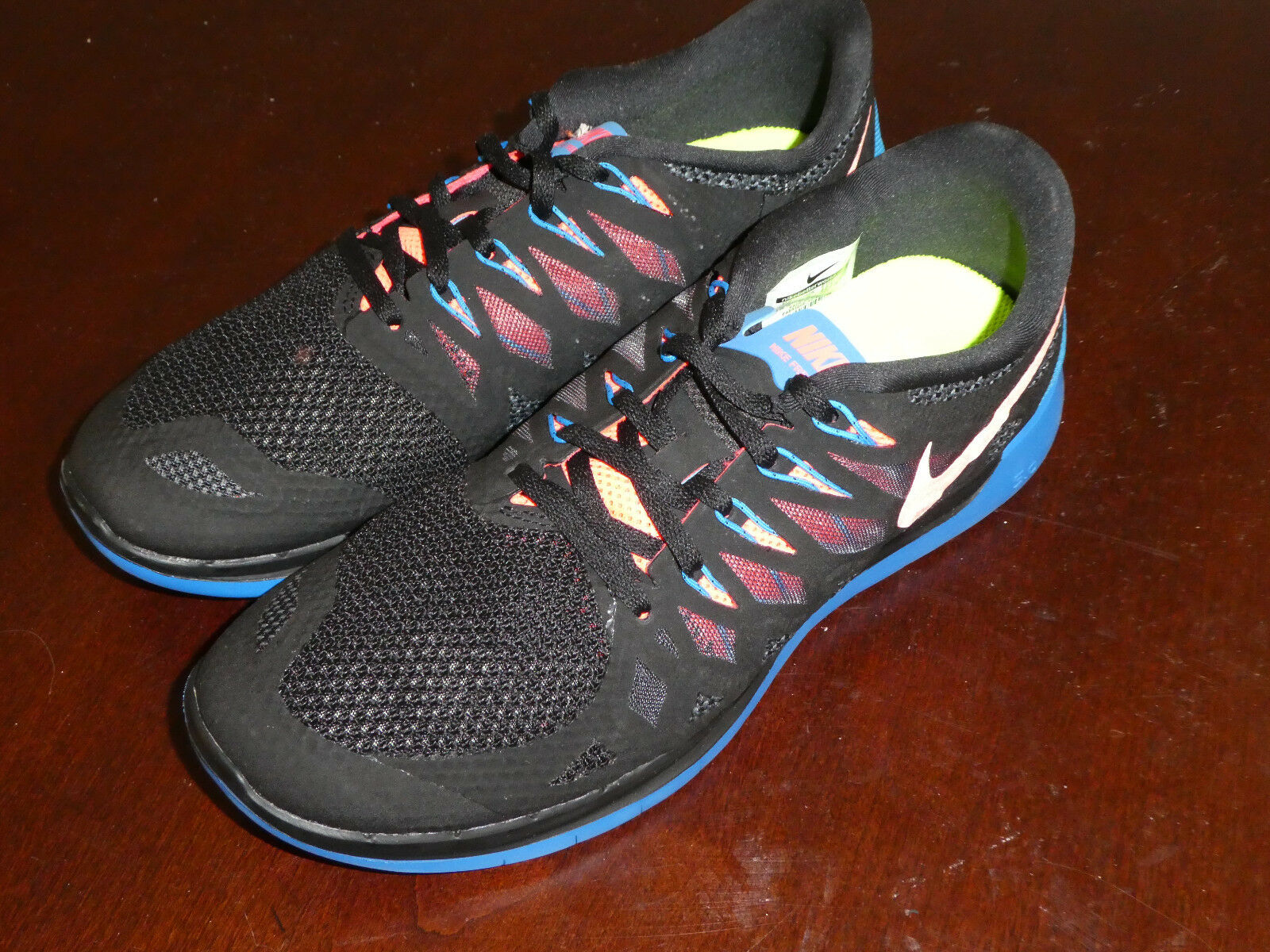 Nike Free 5.0 shoes sneakers new 555301 002 black blue