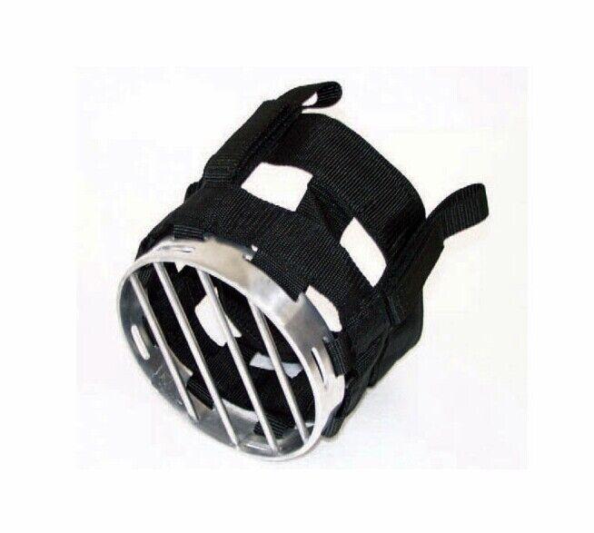 Maulkorb für Pferde in Nylon mit Gitter in Metall