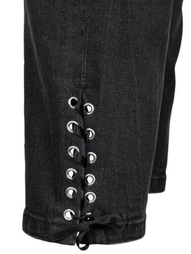 Amy Vermont Jeans mit Ösenzier NEU!! KP 85,99 € SALE/%/%/% schwarz