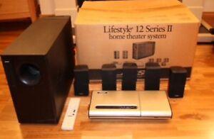 bose lifestyle 12 series ii speaker system black in color. Black Bedroom Furniture Sets. Home Design Ideas