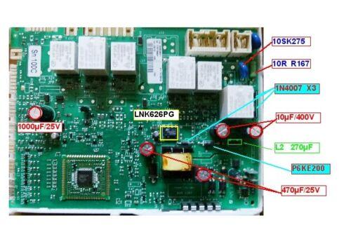Kit  Réparation Carte LNK626PG  seche linge  HOTPOINT ARISTON