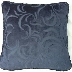 4 X 16 Inch Cushions And Inners In Laura Ashley Villandry Midnight Velvet Fabric